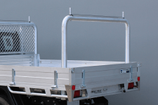 ROUND 90° ALLOY REMOVABLE REAR RACK TO SUIT OUR TRADESMAN OR ULTRA TRAYS