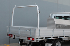 ROUND ALLOY CONTOURED REMOVABLE REAR RACK TO SUIT OUR TRADESMAN OR ULTRA TRAYS - truck