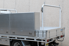 ROUND 90° ALLOY REMOVABLE REAR RACK TO SUIT OUR TRADESMAN OR ULTRA TRAYS - truck