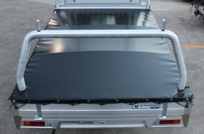 Tonneau Cover Trimmed around Rear Rack